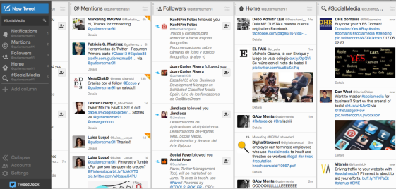 Dashboard TweetDeck